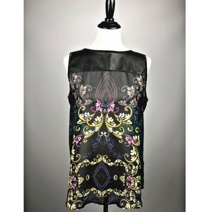 Bisou Bisou sleeveless dress shirt size medium